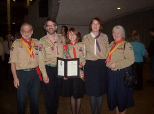 My family and I at my Chief Scout ceremony. I stood on the stage at the Science Centre again this past November for my TEDx talk.